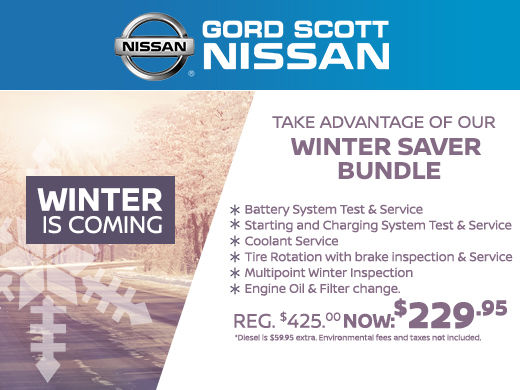Get Ready for Winter at Gord Scott Nissan!