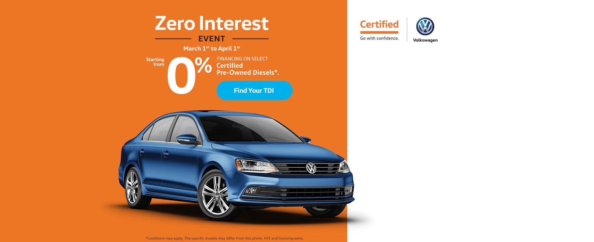 The Zero Interest Event!