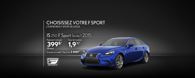 Lexus IS 2015 - Promotion Avril