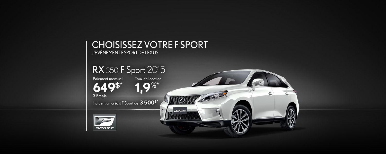 Lexus RX 2015 - Promotion Avril