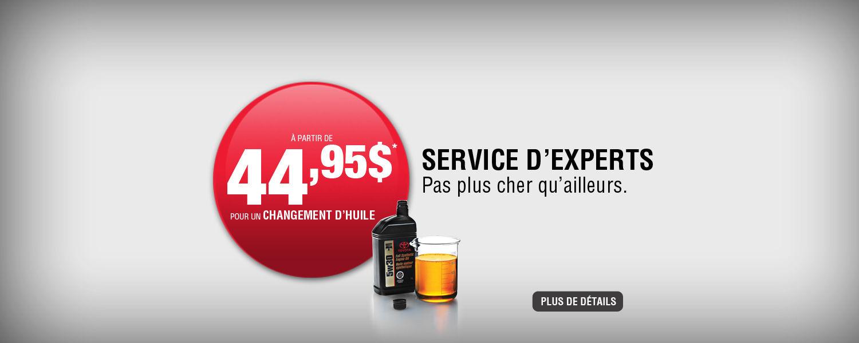 Service d'experts - Pas plus cher qu'ailleurs
