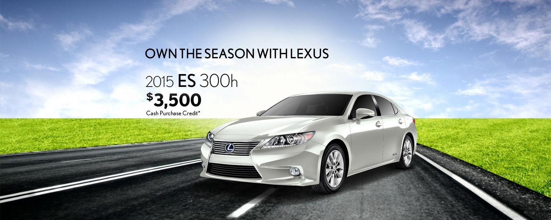 2015 Lexus ES - April Promotion