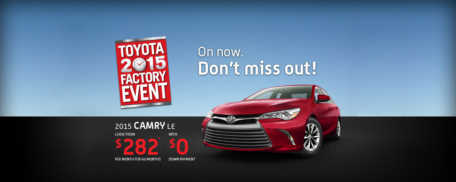 2015 Toyota Camry - 2015 Factory Event
