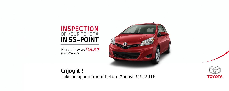 July service promotion - 55-point inspection