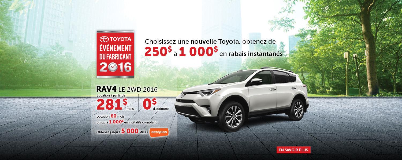 Toyota - Événement du Fabricant