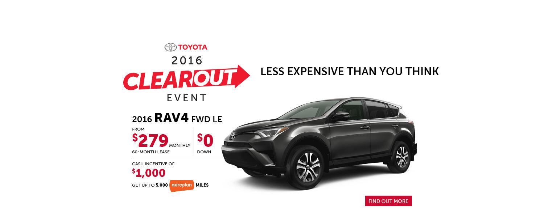 2016 Toyota RAV4 - September