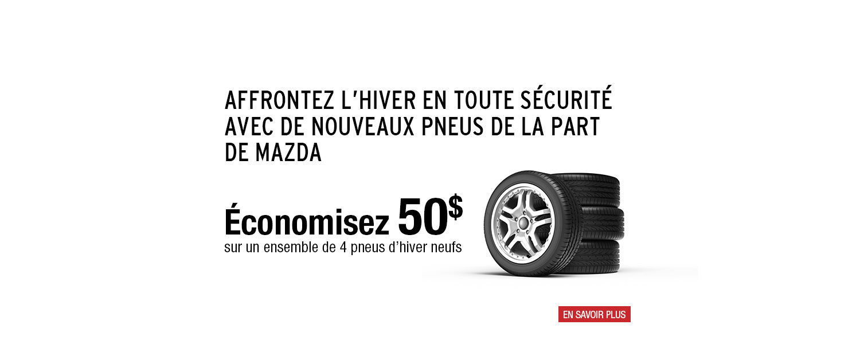 Promotion Pneus Hiver Mazda