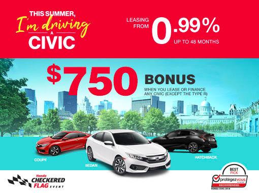 New Honda Civic Deals in Montreal