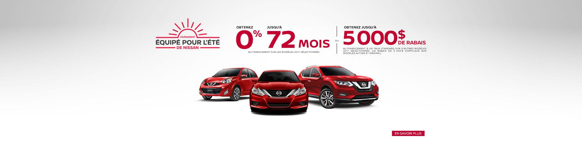 L'Événement équipé pour l'été de Nissan