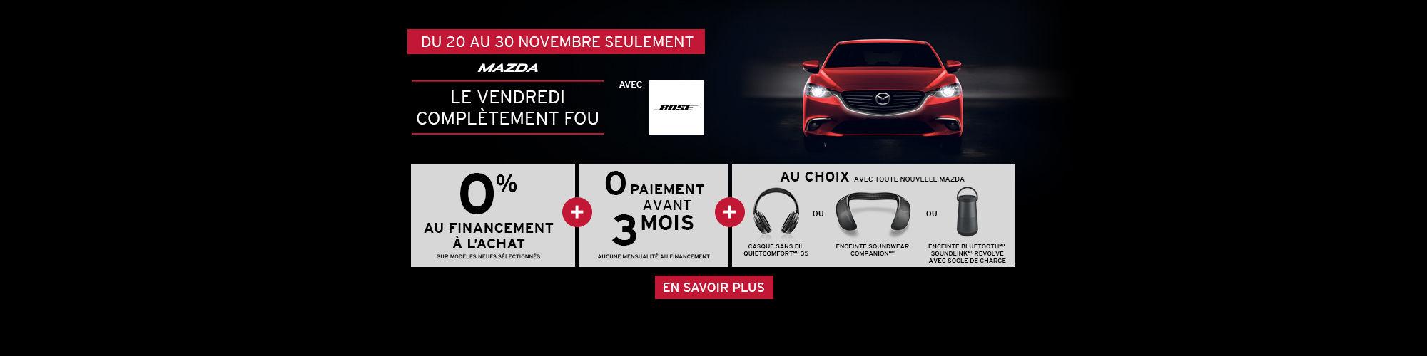 L'Événement fin d'année Mazda avec Bose