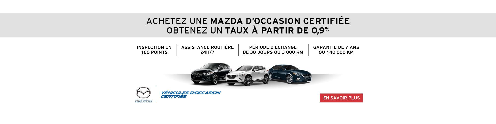 Mazda Occasion Certifié