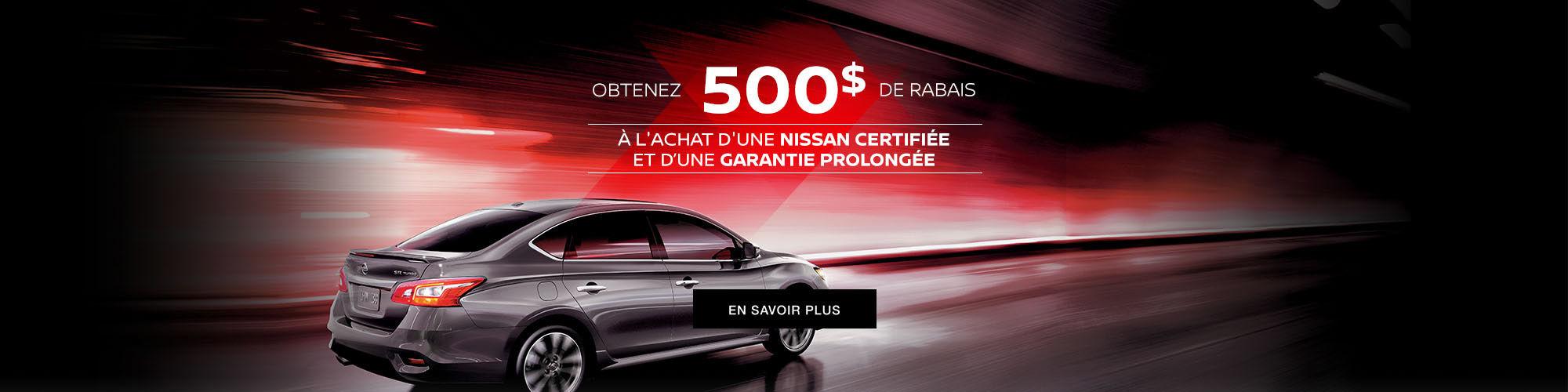 Promo Occasion certifié Nissan