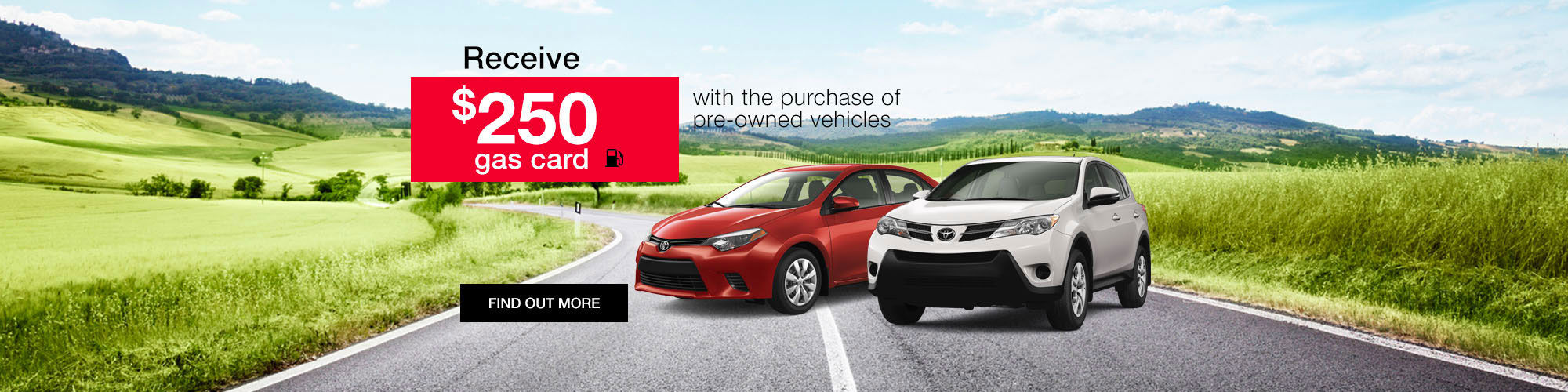 Toyota $250 Gas Card