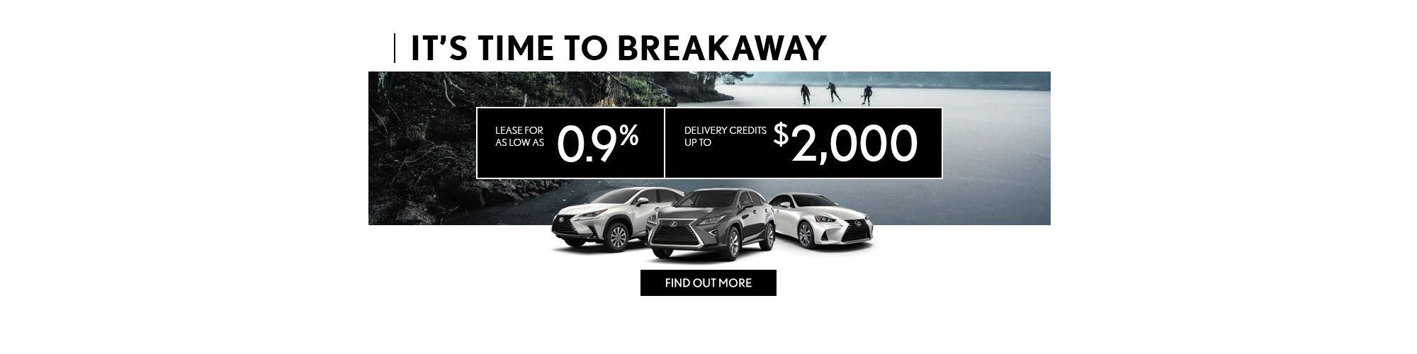 Lexus its time to breakaway