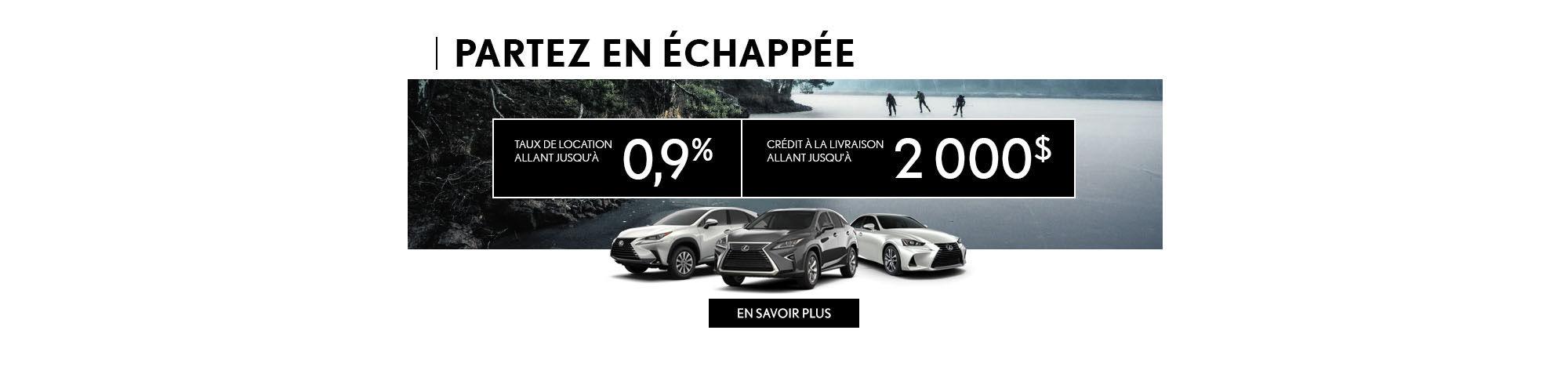 Lexus Partez en échappée