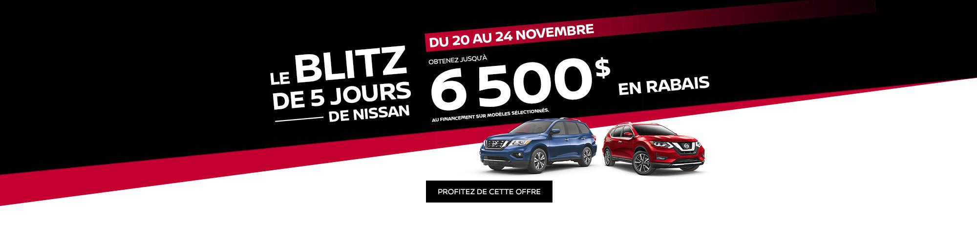 Le Blitz de 5 jours Nissan