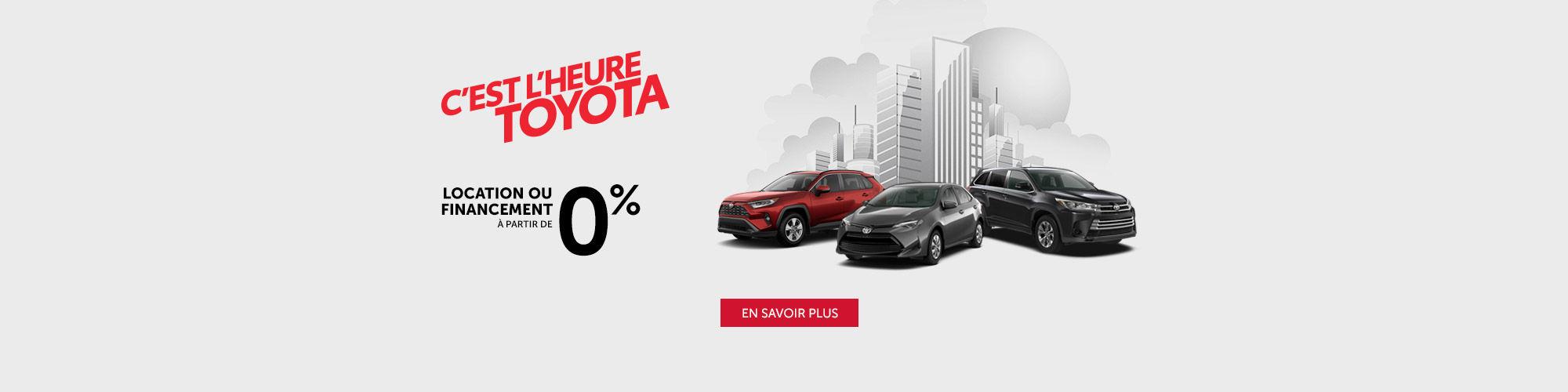 C'est l'heure Toyota