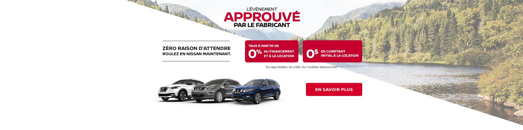 L'Événement approuvé par le fabricant Nissan