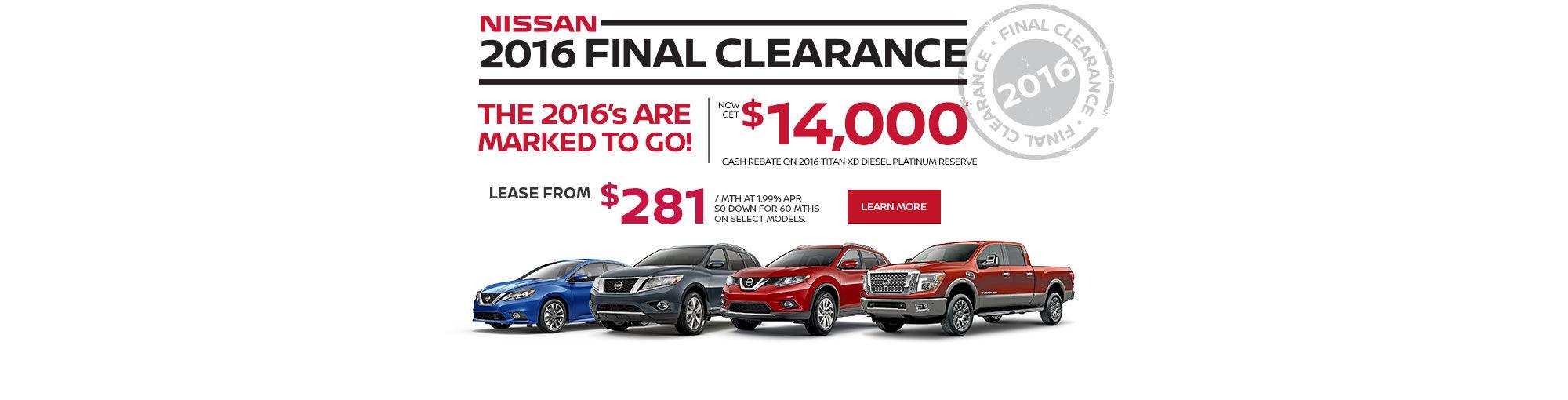Nissan 2016 Final Clearance