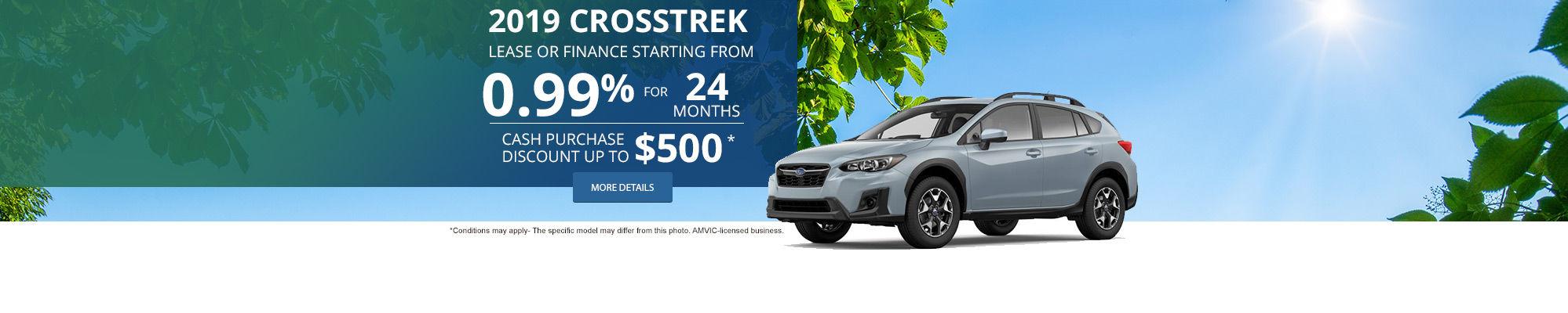 Get the 2019 Subaru Crosstrek Today!