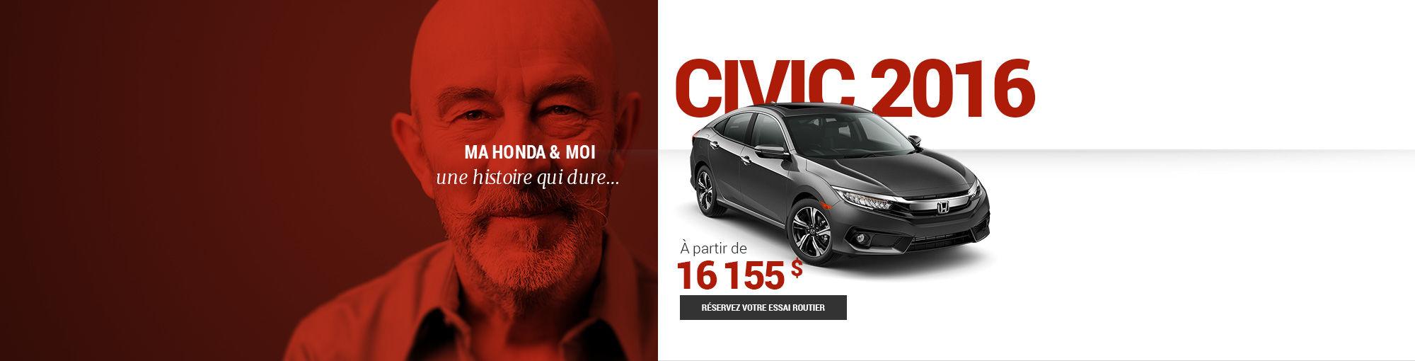 Civic 2016 - DÉBUT MOIS