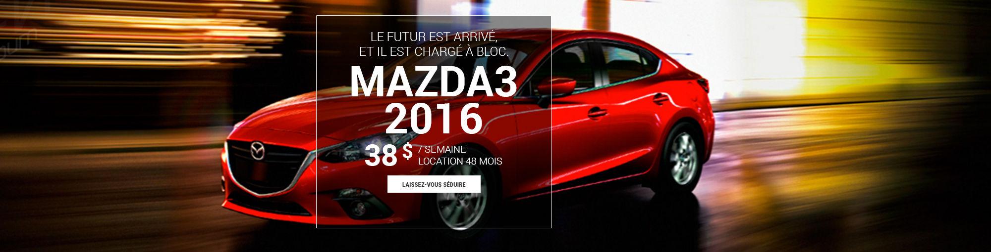 Mazda3 2016 - octobre 2016