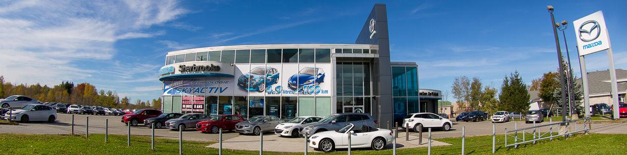 Photo du concessionnaire Mazda situé à Sherbrooke près de Magog et Drummondville.