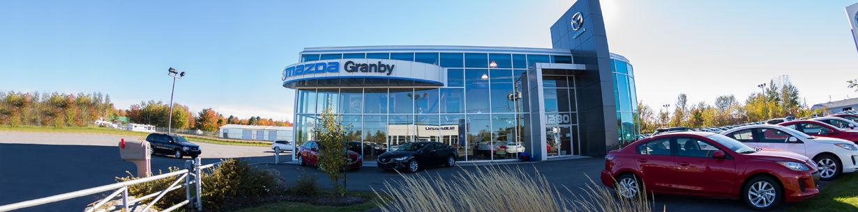 Photo du concessionnaire Mazda situé à Granby sur la Rive-sud.