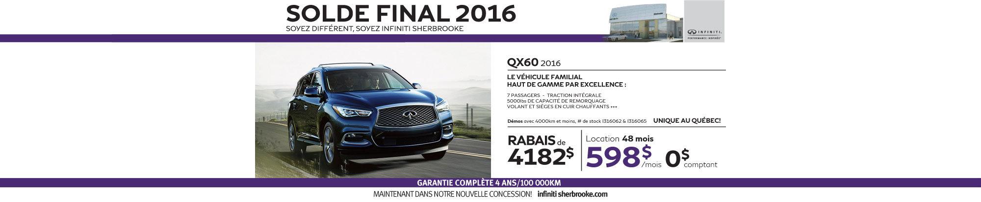 QX60 2016 - Aout