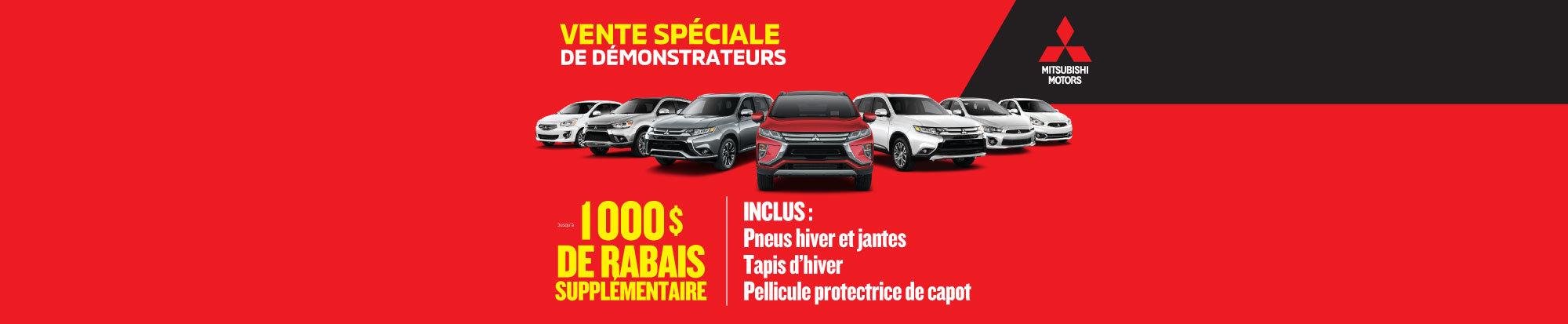 Participez à notre vente spéciale de DÉMONSTRATEURS! web