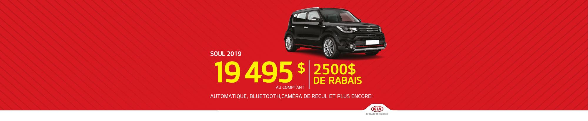 La Kia Soul 2019 - 2 500$ de rabais!