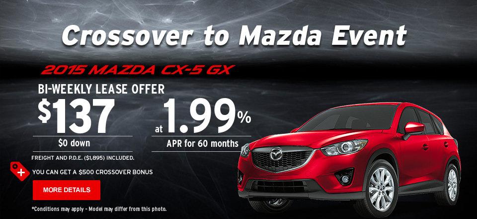 2015 Mazda CX-5 GX - Crossover to Mazda Event