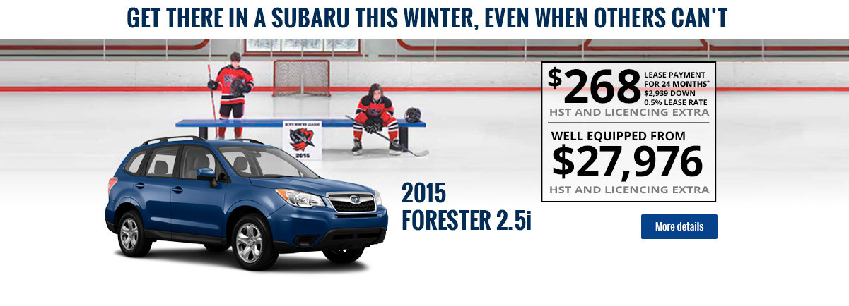 Get there in a Forester this winter!