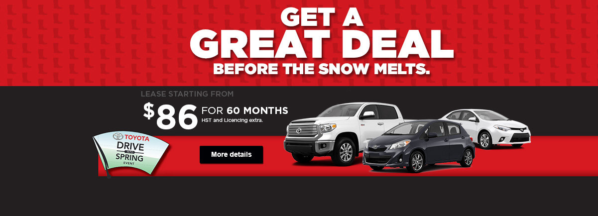 Get a great deal before the snow melts.