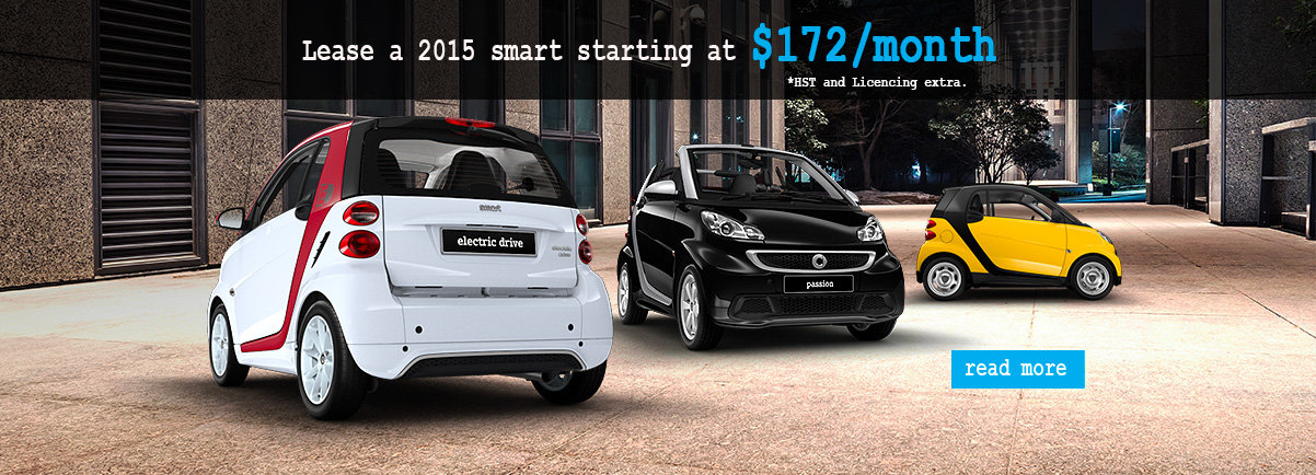 Lease a 2015 smart for only $172/month