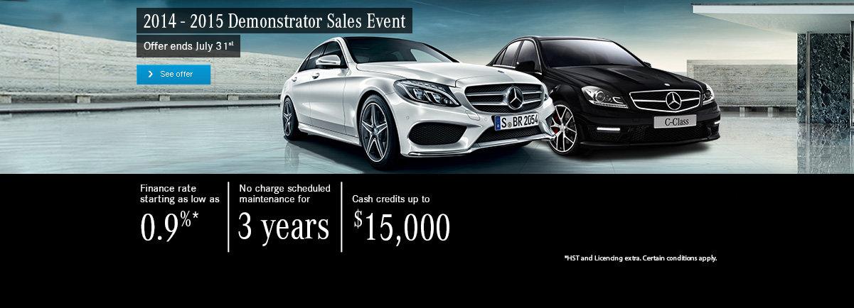 2014 - 2015 Demonstrator Sales Event