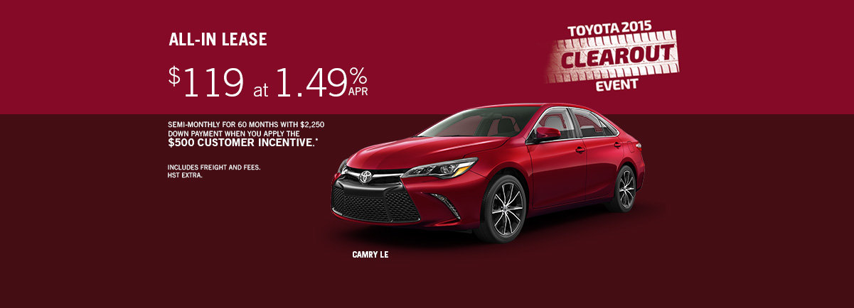 October Promo Camry