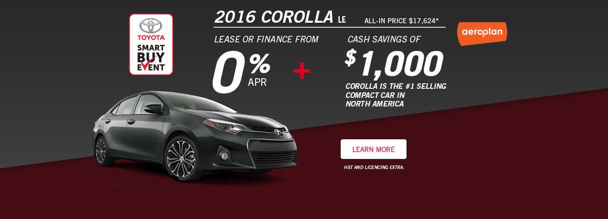 Smart Buy Event - Corolla