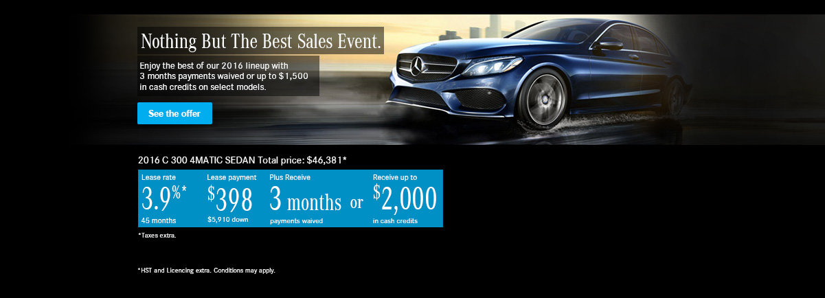 Nothing But The Best Sales Event. C300