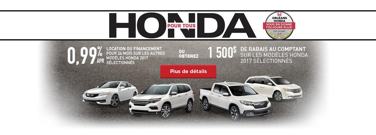 Honda pour tous !