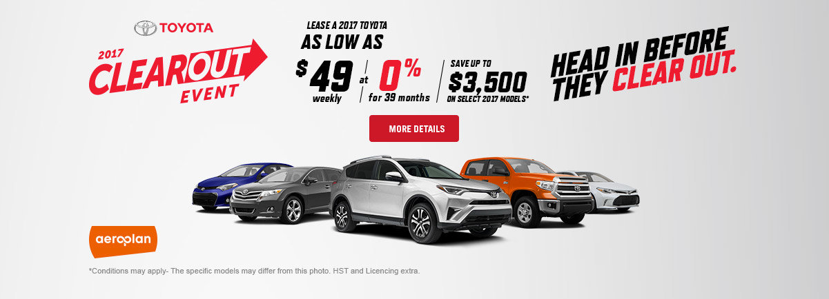 Toyota Clearout Event web