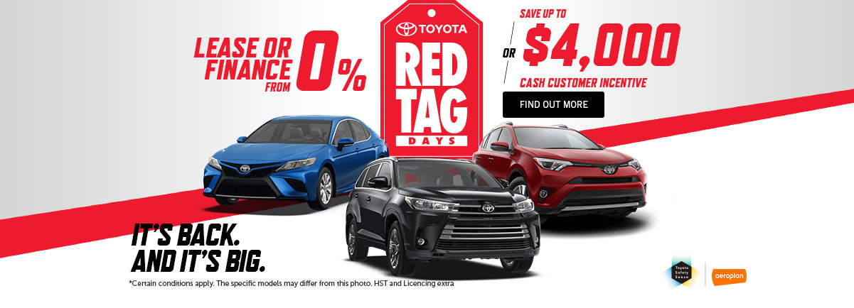TOYOTA'S RED TAG DAYS - May -