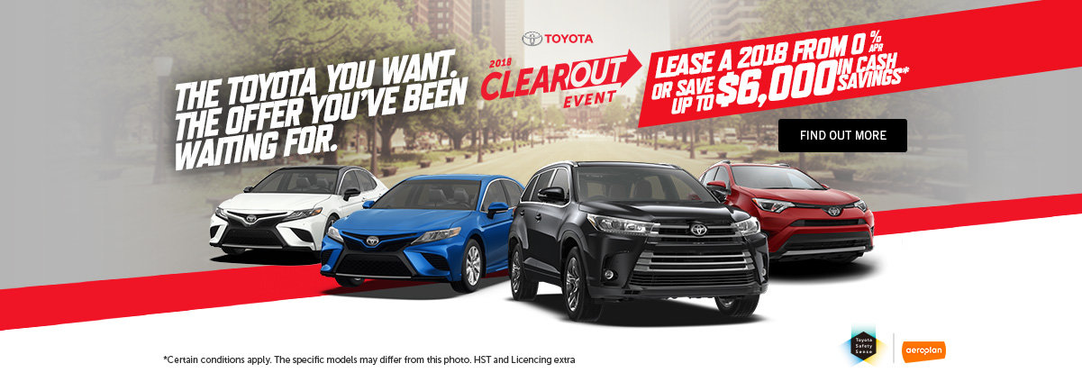 TOYOTA 2018 Clearout - Header - Web