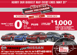 It's Nissan's Thank You Canada Sales Event!