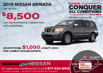 Save on the all-new 2015 Nissan Armada!