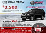 Save on the all-new 2015 Nissan Xterra