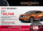 Save on a Brand-New 2017 Nissan Murano Today!