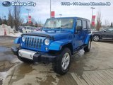 2014 Jeep Wrangler Unlimited Sahara,4X4,AUTO,ALUMINUM WHEELS,LOCAL TRADE,BLUETOOTH,AIR,TILT,CRUISE,PW,PL, THIS COLOR POPS!!!