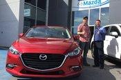 Félicitations M. Gagnon pour votre nouvelle Mazda 3  2017