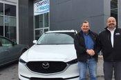 Félicitations à M. Jeannotte pour l'achat de son véhicule Mazda CX5 2017